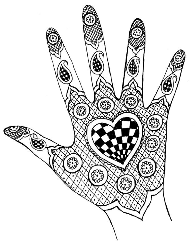 Легкие рисунки для рисования на руках
